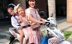 Hậu ly hôn với chồng tây, Hồng Nhung chia sẻ clip cuộc sống ba mẹ con đèo nhau trên xe máy