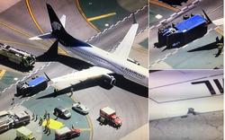 Cận cảnh hiện trường xe tải va chạm máy bay tại sân bay LAX