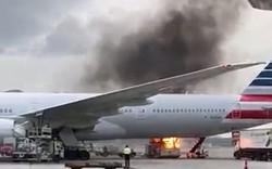 Bất ngờ lửa bùng cháy dữ dội tại sân  bay Hồng Kông