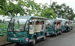 Thí điểm xe 4 bánh chạy điện chở khách du lịch tại Cần Thơ