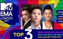 MTV EMA 2017 Top 3 nghệ sĩ bình chọn cao nhất đã lộ diện