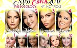 Miss Earth 2017: Hà Thu đứng vị trí thứ 2 bình chọn về nhan sắc
