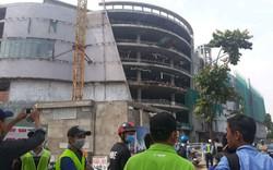 Ba công nhân trọng thương khi rơi từ công trình trung tâm thương mại ở TP HCM