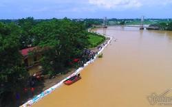 Ngập lụt ở Chương Mỹ: Phát sinh những sự cố khó lường