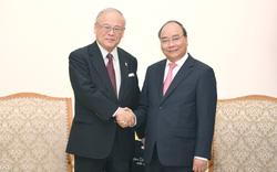 Thủ tướng Nguyễn Xuân Phúc tiếp Cố vấn Liên minh Nghị sĩ Hữu nghị Nhật - Việt