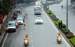 Công an Hà Nội  phân luồng giao thông phục vụ Lễ Quốc tang đồng chí Trần Đại Quang