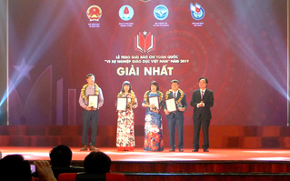 """Trao Giải báo chí """"Vì sự nghiệp Giáo dục Việt Nam"""" năm 2019, chính thức phát động Giải năm 2020"""