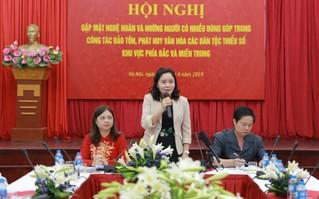 """Thứ trưởng Trịnh Thị Thủy: """"Cộng đồng đóng vai trò rất lớn trong công tác bảo tồn, phát huy các giá trị văn hóa dân tộc"""""""