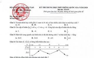 Đầy đủ nhất 14 đề tham khảo các môn thi THPT quốc gia 2020