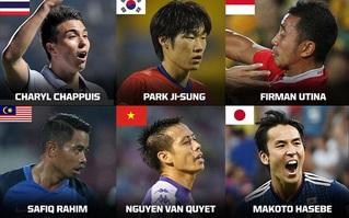 Văn Quyết sánh vai cùng Park Ji-sung vào nhóm tiền vệ hay nhất châu Á