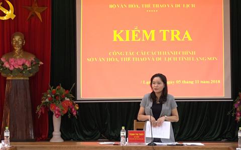 Kiểm tra công tác Cải cách hành chính năm 2018 ở Lạng Sơn