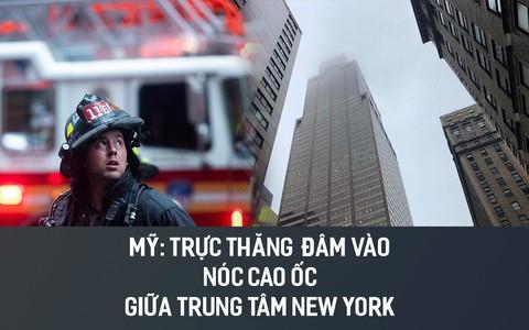 Mỹ: Trực thăng đâm vào nóc cao ốc giữa trung tâm New York