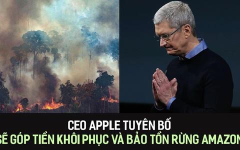 CEO Apple tuyên bố sẽ góp tiền khôi phục và bảo tồn rừng Amazon