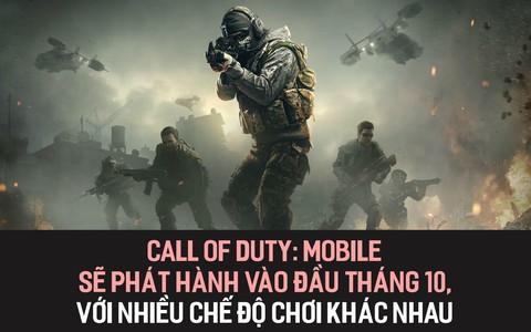 Call of Duty Mobile sẽ phát hành vào đầu tháng 10, với nhiều chế độ chơi khác nhau