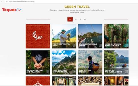 """Tổng cục Du lịch ra mắt trang """"Green Travel"""" quảng bá du lịch bền vững tới khách quốc tế"""
