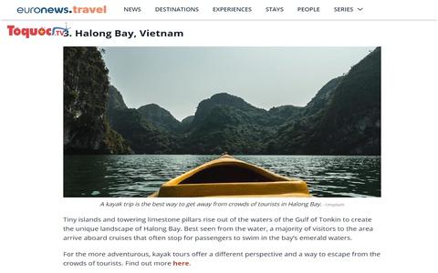 Vịnh Hạ Long lọt top những điểm đến giúp du khách cai mạng xã hội