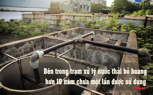 Hà Nội: Hình ảnh hoang tàn, xuống cấp của trạm xử lý nước thải bỏ hoang gần 10 năm không được sử dụng