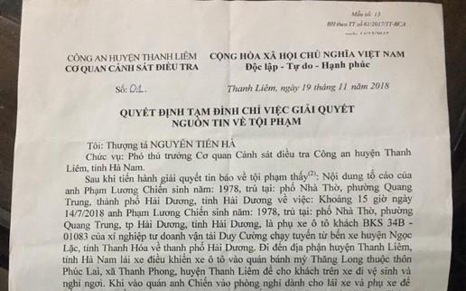 Hà Nam: Có hay không việc cơ quan điều tra huyện bỏ lọt tội phạm