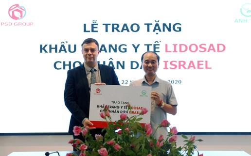 Việt Nam gửi tặng 100.000 khẩu trang y tế hỗ trợ phòng chống Covid-19 cho Israel