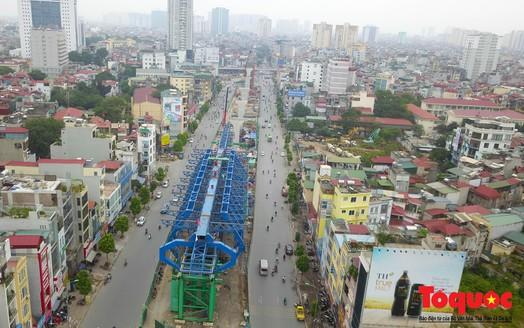 """Mục sở thị """"đại công trường"""" vành đai 2 gần 10.000 tỷ ở Hà Nội"""