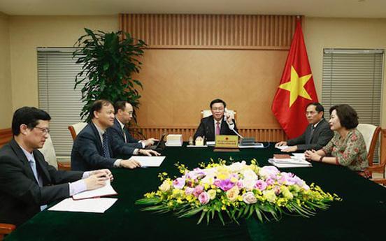 Phó Thủ tướng Vương Đình Huệ điện đàm với Bộ trưởng Tài chính Hoa Kỳ: Tăng cường hợp tác tài chính-tiền tệ, kinh tế-thương mại và đầu tư