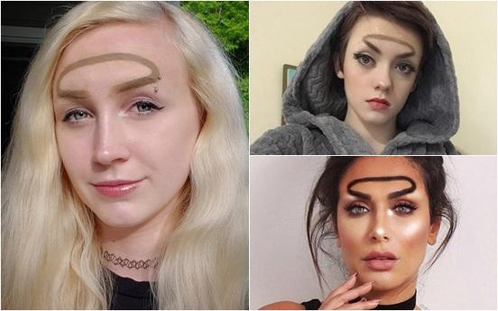 """Trend mới kỳ quặc của phái đẹp trên Instagram: Các chị em xê ra để lông mày nhọ nồi """"vô cực"""" lên ngôi!"""