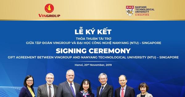 Vingroup tài trợ 5 triệu đô la Singapore cấp học bổng cho thạc sĩ, tiến sĩ người Việt tại ĐH Công nghệ Namyang