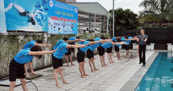Tập huấn nghiệp vụ về chương trình bơi an toàn, phòng chống đuối nước trẻ em toàn quốc khu vực 2