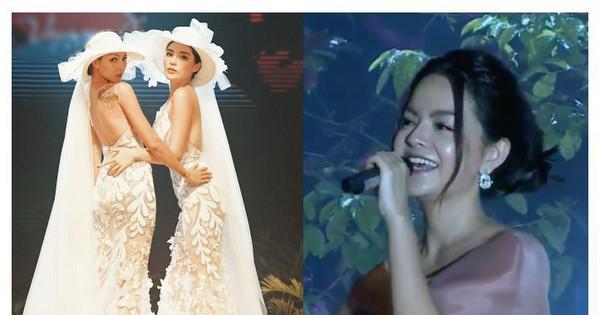 Kỳ Duyên - Minh Triệu nắm tay mặc váy cô dâu
