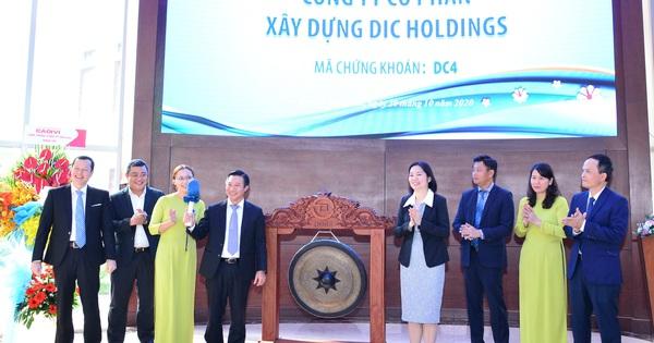 DIC Holdings (DC4) chính thức niêm yết sàn HoSE với giá tham chiếu 13.500 đồng/cp, dự kiến tăng vốn lên 500 tỷ đồng ngay trong năm 2021