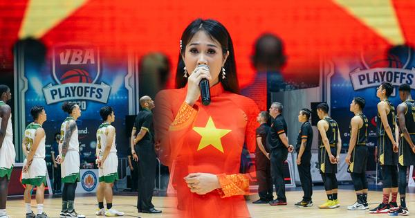 Lần đầu tiên tại VBA Arena, quốc ca Việt Nam được thể hiện bởi một giọng ca trực tiếp trước thềm trận đấu - kết quả xổ số quảng nam