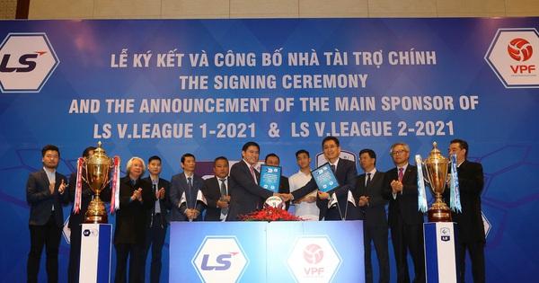 Sau mùa giải thành công, V-League được tăng giá trị hợp đồng và thời gian tài trợ