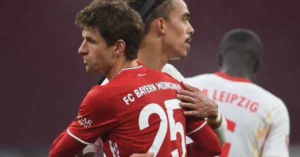 Bayern Munich cầm chân Leipzig trong màn rượt đuổi tỷ số hấp dẫn