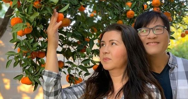 Khu vườn ngập trái cây của Phương Thảo - Ngọc Lễ tại Mỹ