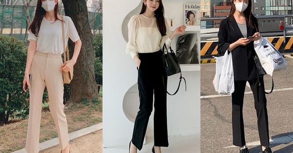 Thường mặc dáng quần âu chuẩn ''nhân viên kiểu mẫu'', quý cô Hàn Quốc vẫn sành điệu chứ không chán ngắt nhờ mix đồ khéo léo