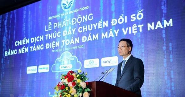 Bộ trưởng Nguyễn Mạnh Hùng phát động chiến dịch thúc đẩy chuyển đổi số bằng nền tảng ĐTĐM Việt Nam 22/05/2020