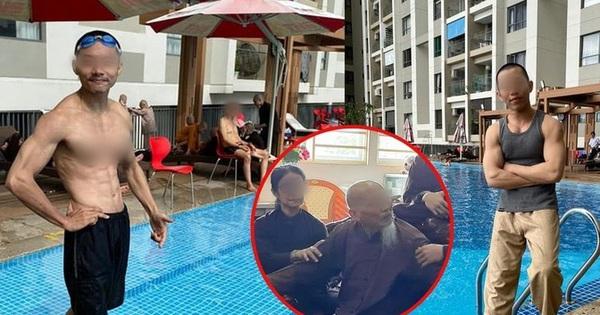 Xôn xao hình ảnh các ''sư thầy'' Tịnh Thất Bồng Lai đi resort tránh nắng, khoe body 6 múi ở hồ bơi sau ồn ào bị điều tra