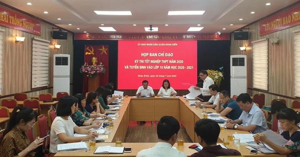 Quận Hoàn Kiếm họp Ban chỉ đạo kì thi vào 10 và thi tốt nghiệp Trung học phổ thông