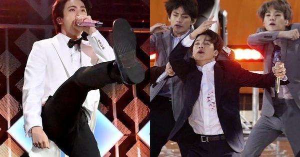 Jin (BTS) vẫn thần thái bất chấp vũ đạo cực bốc trong khi Jungkook, Jimin, V mặt