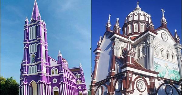 Ngỡ ngàng với 2 nhà thờ màu tím và màu nâu đẹp như thánh đường châu Âu cổ tại Nghệ An, dân tình lại rủ nhau đi check in rầm rộ