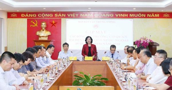 Trưởng Ban Dân vận TƯ tiếp các Trưởng cơ quan đại diện Việt Nam ở nước ngoài