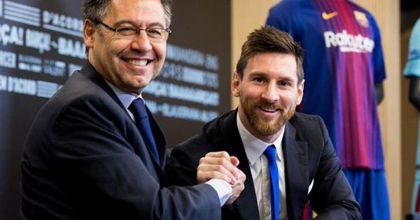 Chủ tịch Bartomeu: CLB nên ăn mừng vì giữ chân thành công Messi