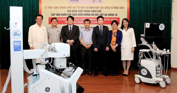 Nhật Bản hỗ trợ thiết bị y tế hiện đại cho Huế phòng chống dịch Covid-19
