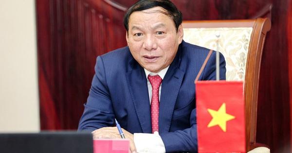 Bộ trưởng Nguyễn Văn Hùng chúc mừng thành tích xuất sắc của Đội tuyển bóng đá nam quốc gia tại Vòng 2 loại World Cup - mega 645