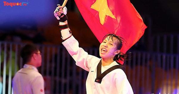 Võ sĩ Kim Tuyền giành huy chương Vàng giải Taekwondo vô địch Châu Á 2021
