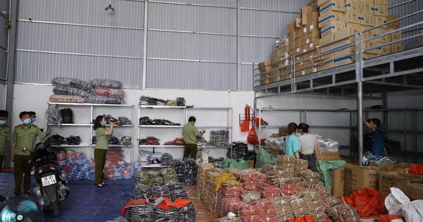 Thu giữ 40 tấn hàng gồm 123.425 sản phẩm không rõ nguồn gốc kinh doanh chủ yếu trên livetreams bán hàng
