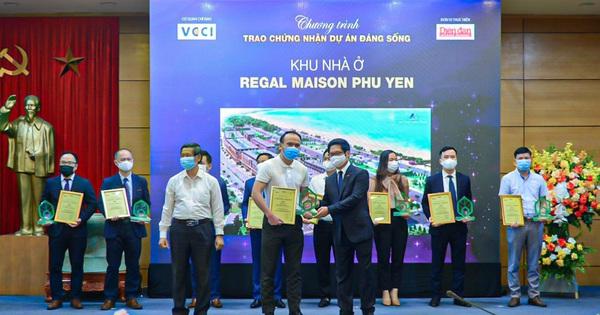 """Regal Maison Phu Yen của Đất Xanh Miền Trung xuất sắc ghi danh """"Dự án đáng sống 2021"""""""
