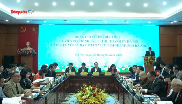 Bí thư Thành ủy Hà Nội: Mặt trận Tổ Quốc cần đẩy mạnh phong trào thi đua yêu nước