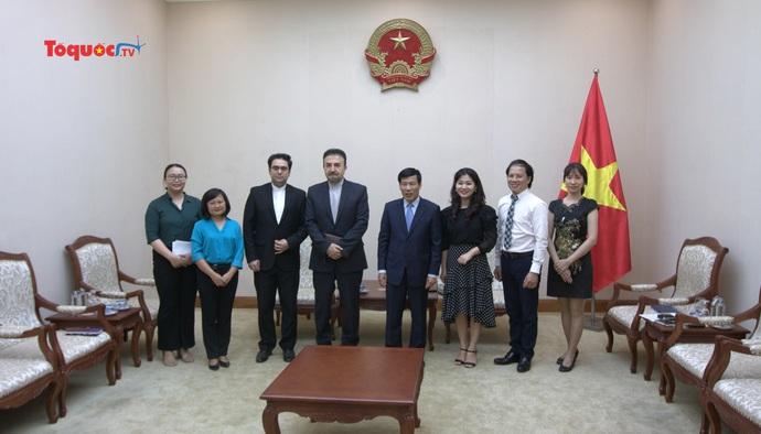 Iran mong muốn được hợp tác sản xuất điện ảnh, thúc đẩy phát triển du lịch với Việt Nam