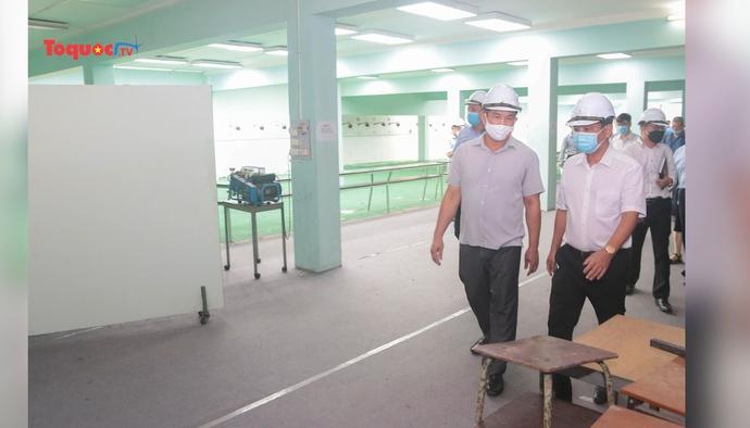 Đảm bảo tiến độ, chất lượng công trình nâng cấp, cải tạo trường bắn thuộc Trung tâm huấn luyện thể thao Quốc gia Hà Nội